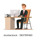 business characters working in... | Shutterstock .eps vector #583789483