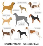hunting dog breeds collection... | Shutterstock .eps vector #583800163