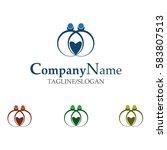 wedding organizer logo | Shutterstock .eps vector #583807513
