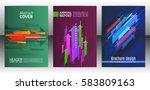 abstract arrows vector brochure ... | Shutterstock .eps vector #583809163