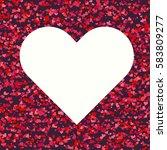 big white heart on dark... | Shutterstock .eps vector #583809277