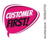 customer first retro speech... | Shutterstock .eps vector #583810753
