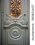 old rustic wooden background ...   Shutterstock . vector #583821637