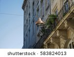 street with typical france...   Shutterstock . vector #583824013