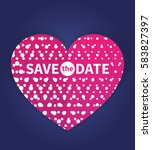 save the date card template ... | Shutterstock .eps vector #583827397