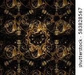 classic vector golden pattern.... | Shutterstock .eps vector #583828567