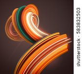 orange abstract twisted shape.... | Shutterstock . vector #583832503