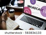 music streaming media... | Shutterstock . vector #583836133