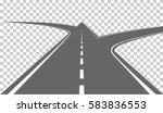 road with white markings.... | Shutterstock .eps vector #583836553