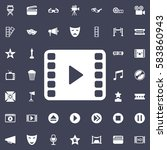 video play icon. movie set of... | Shutterstock .eps vector #583860943
