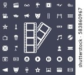 the film icon. movie set of... | Shutterstock .eps vector #583860967