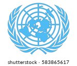 logo of the united nations | Shutterstock vector #583865617