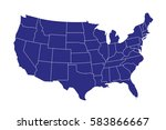 usa map | Shutterstock .eps vector #583866667