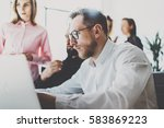 business team concept.young...   Shutterstock . vector #583869223