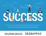 success concept illustration of ... | Shutterstock .eps vector #583869943
