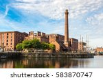 view of albert dock in... | Shutterstock . vector #583870747