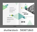 cover design annual report ... | Shutterstock .eps vector #583871863