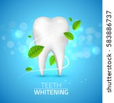 whitening tooth ads  with mint...   Shutterstock .eps vector #583886737