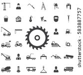 saw icon. construction icons... | Shutterstock . vector #583887757