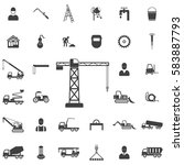building crane icon.... | Shutterstock . vector #583887793