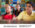 young people and education.... | Shutterstock . vector #583892377