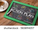 action plan chart with keywords ... | Shutterstock . vector #583894057