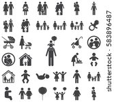 family icon on the white... | Shutterstock . vector #583896487