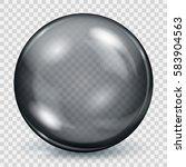big translucent black sphere... | Shutterstock .eps vector #583904563
