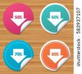 round stickers or website... | Shutterstock . vector #583937107