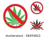 the hemp is forbidden sign on...