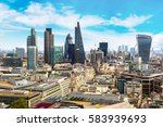 panoramic aerial view of london ... | Shutterstock . vector #583939693