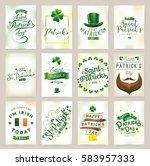 saint patricks day greeting... | Shutterstock .eps vector #583957333