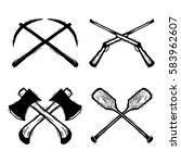 outdoor game equiptment vector... | Shutterstock .eps vector #583962607