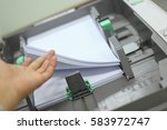 Printer Tray With Paper