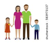 family people standing together.... | Shutterstock .eps vector #583973137