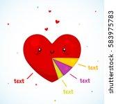 cute diagram heart  cartoon... | Shutterstock .eps vector #583975783