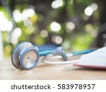 stethoscope for doctor and... | Shutterstock . vector #583978957