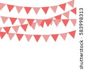 bunting flags pink color...   Shutterstock .eps vector #583998313