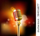 shining microphone vector... | Shutterstock .eps vector #584016877