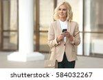 beautiful business woman in...   Shutterstock . vector #584032267