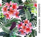 vector seamless pattern  of... | Shutterstock .eps vector #584038093