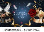 venice carnival poster  two... | Shutterstock . vector #584047963
