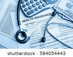 health insurance application... | Shutterstock . vector #584054443