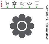 flower icon vector flat design... | Shutterstock .eps vector #584062393