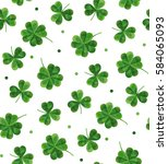 the leaves of clover background ... | Shutterstock .eps vector #584065093