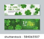 collection of banners for st.... | Shutterstock .eps vector #584065507