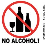 no alcohol sign | Shutterstock .eps vector #584075383
