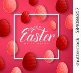 Happy Easter Red Background...