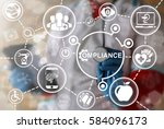 compliance medicine health care ... | Shutterstock . vector #584096173