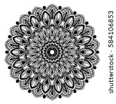 mandalas for coloring book.... | Shutterstock .eps vector #584106853
